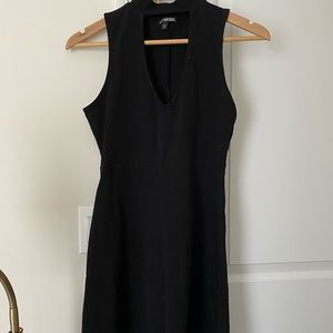 EXPRESS - Mock Neck Fit & Flare Dress